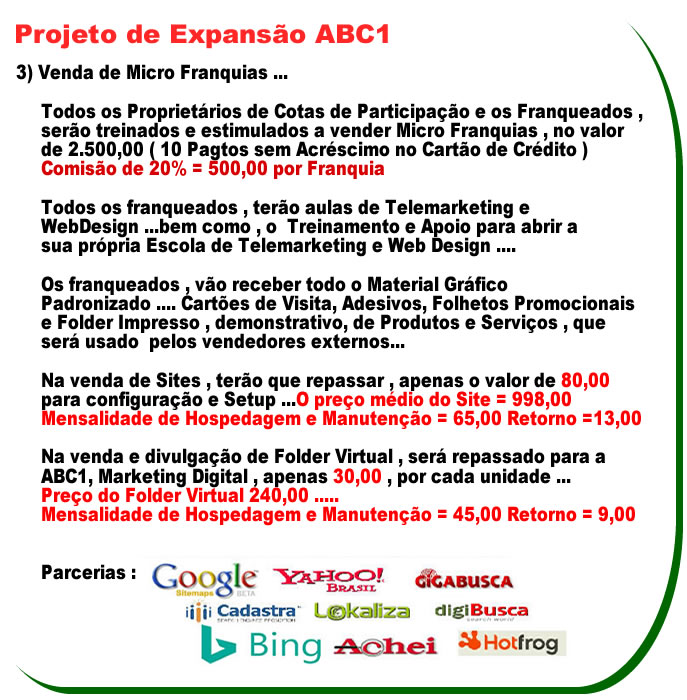 base_venda_microfranquias_ABC1l- MICROFRANQUIAS - ABC1, Marketing Digital