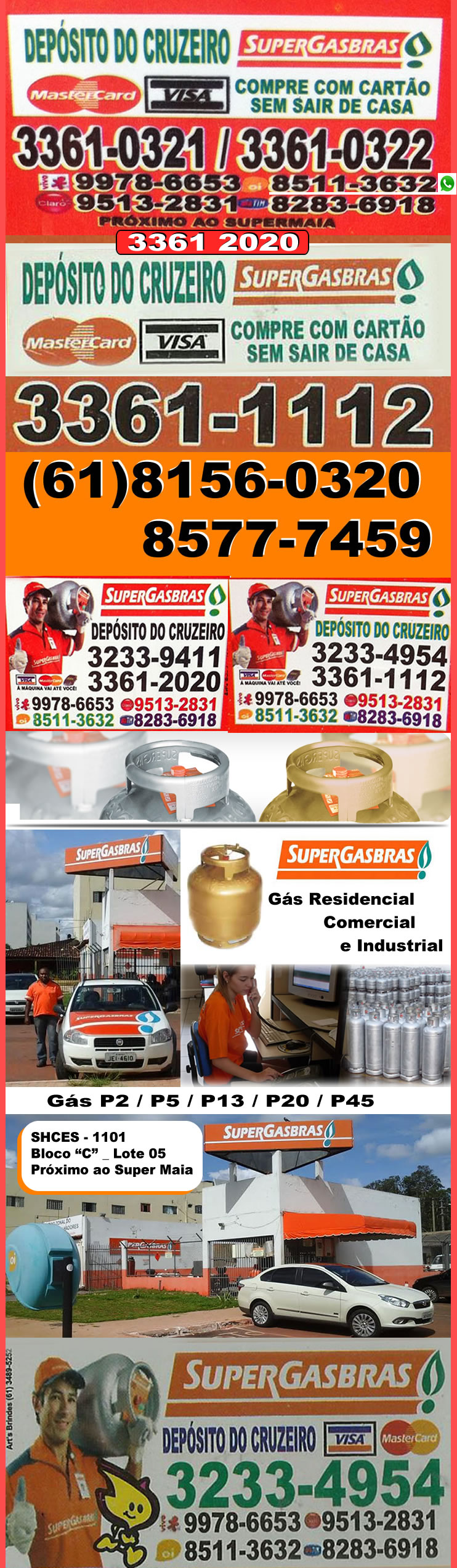 Base_SuperGas_ok Super Gás Brás _ Cruzeiro - Brasília / DF