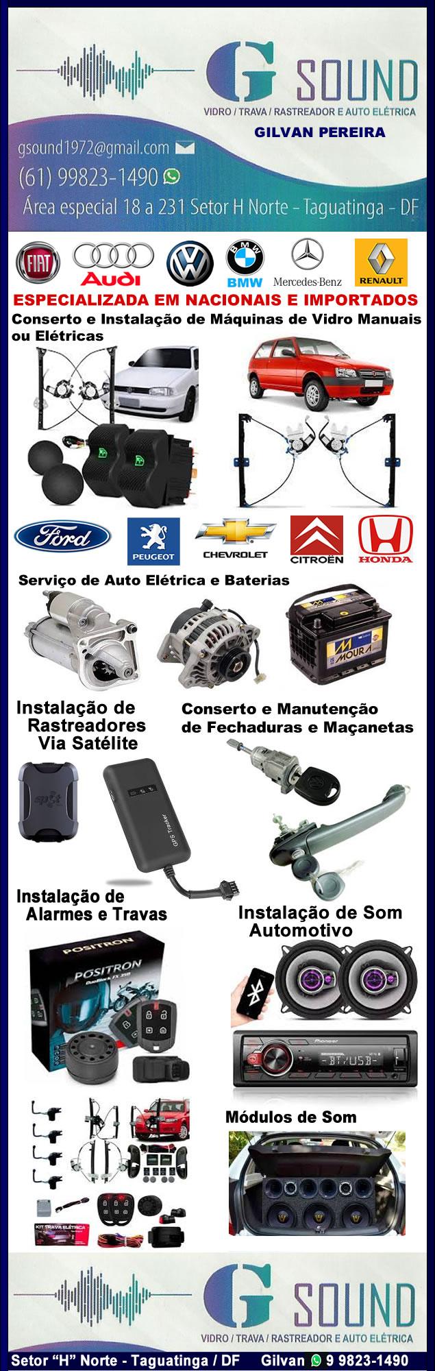 Base_GSound G Sound _ Conserto e Instalação de Vidros Elétricos e Travas